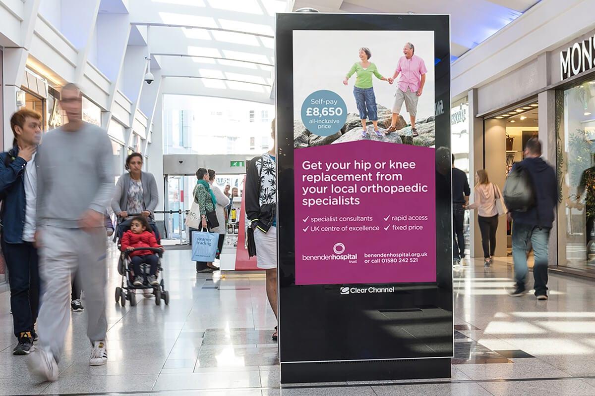 Benenden Hospital campaign digital adshel