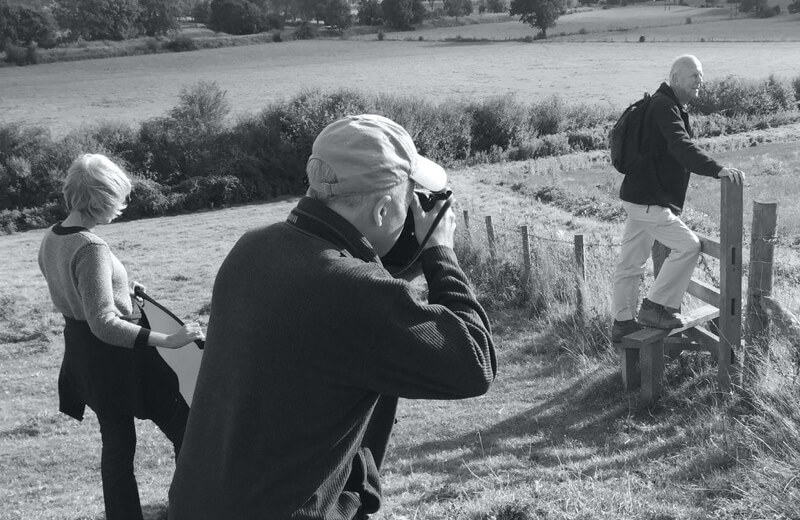 Photoshoot out on location for Benenden