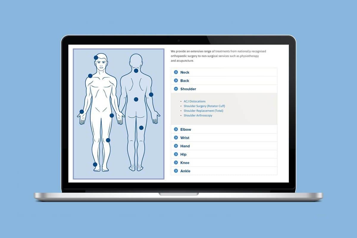 Horder Healthcare website on a MacBook