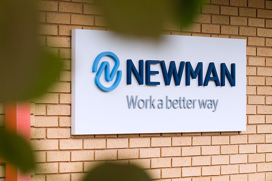 Newman Business Solutions signage