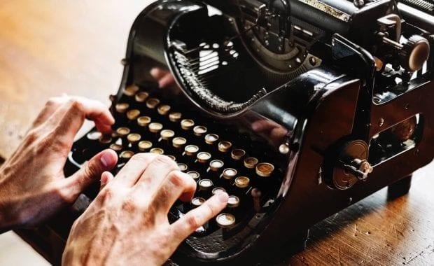 Brand story - old typewriter