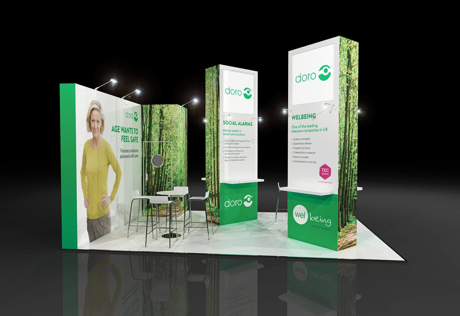 Welbeing & Doro exhibition stand