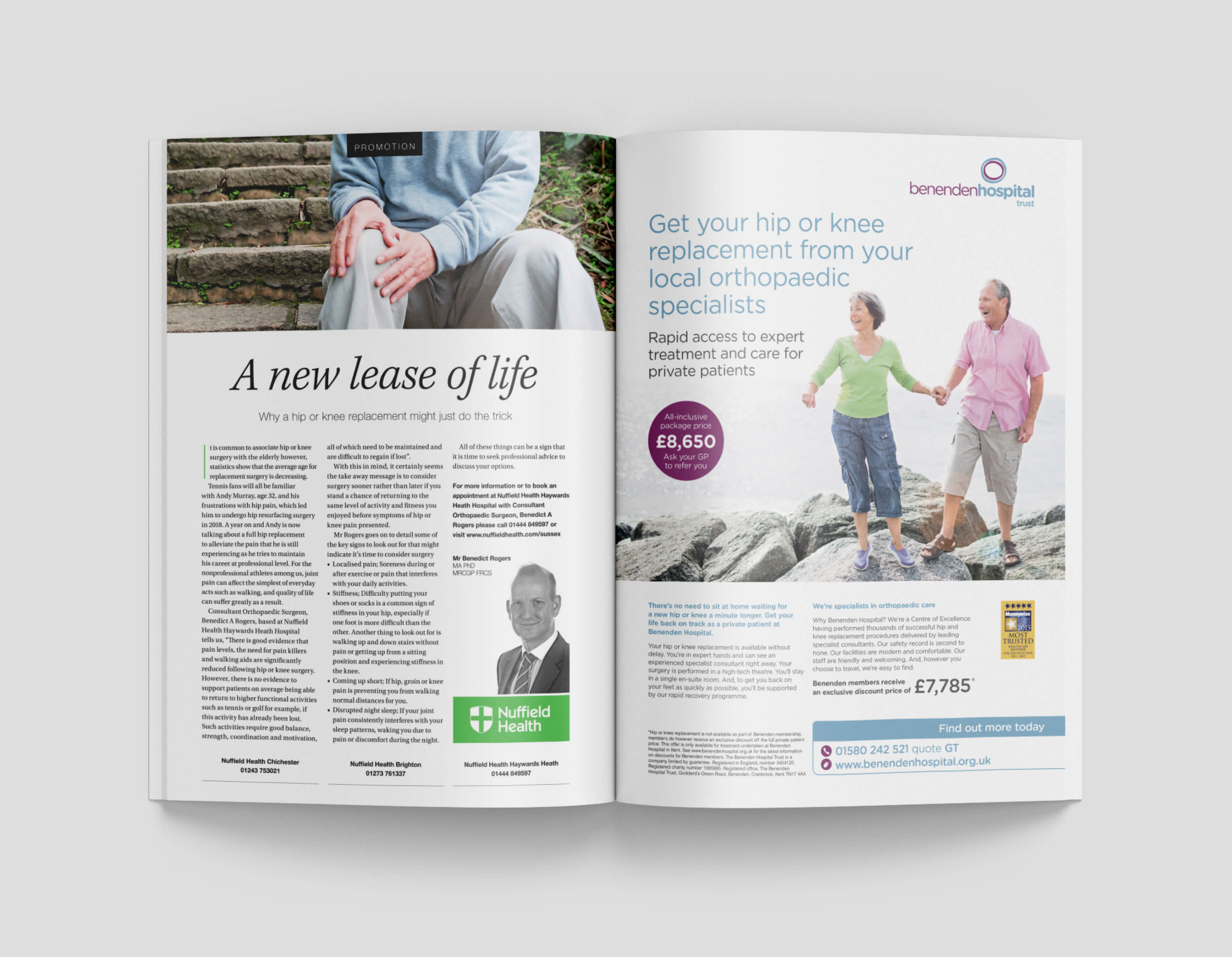 Benenden double page spread advert