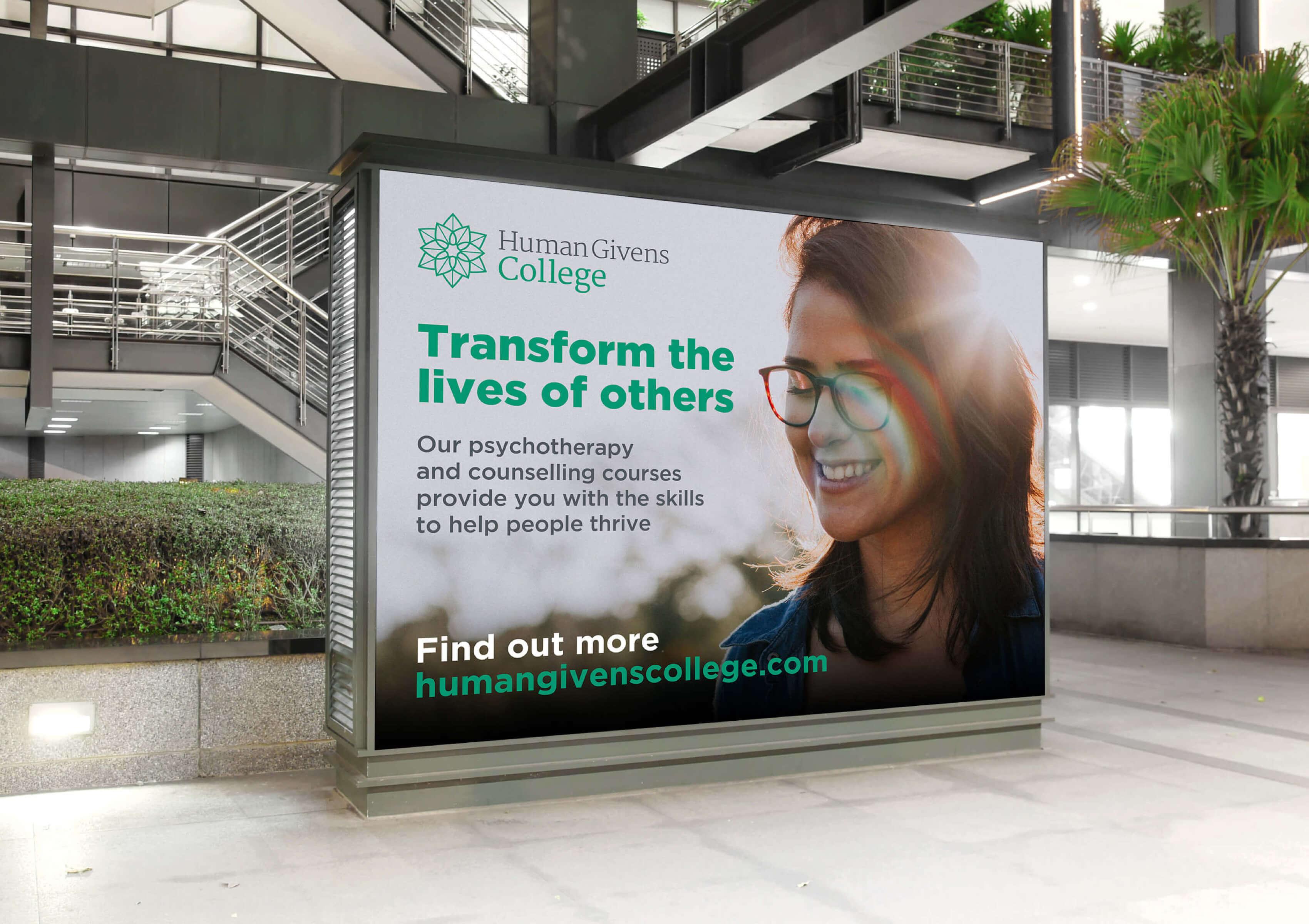 Human Givens billboard