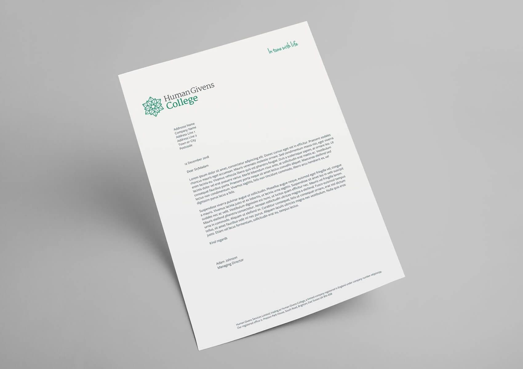 Human Givens letterhead