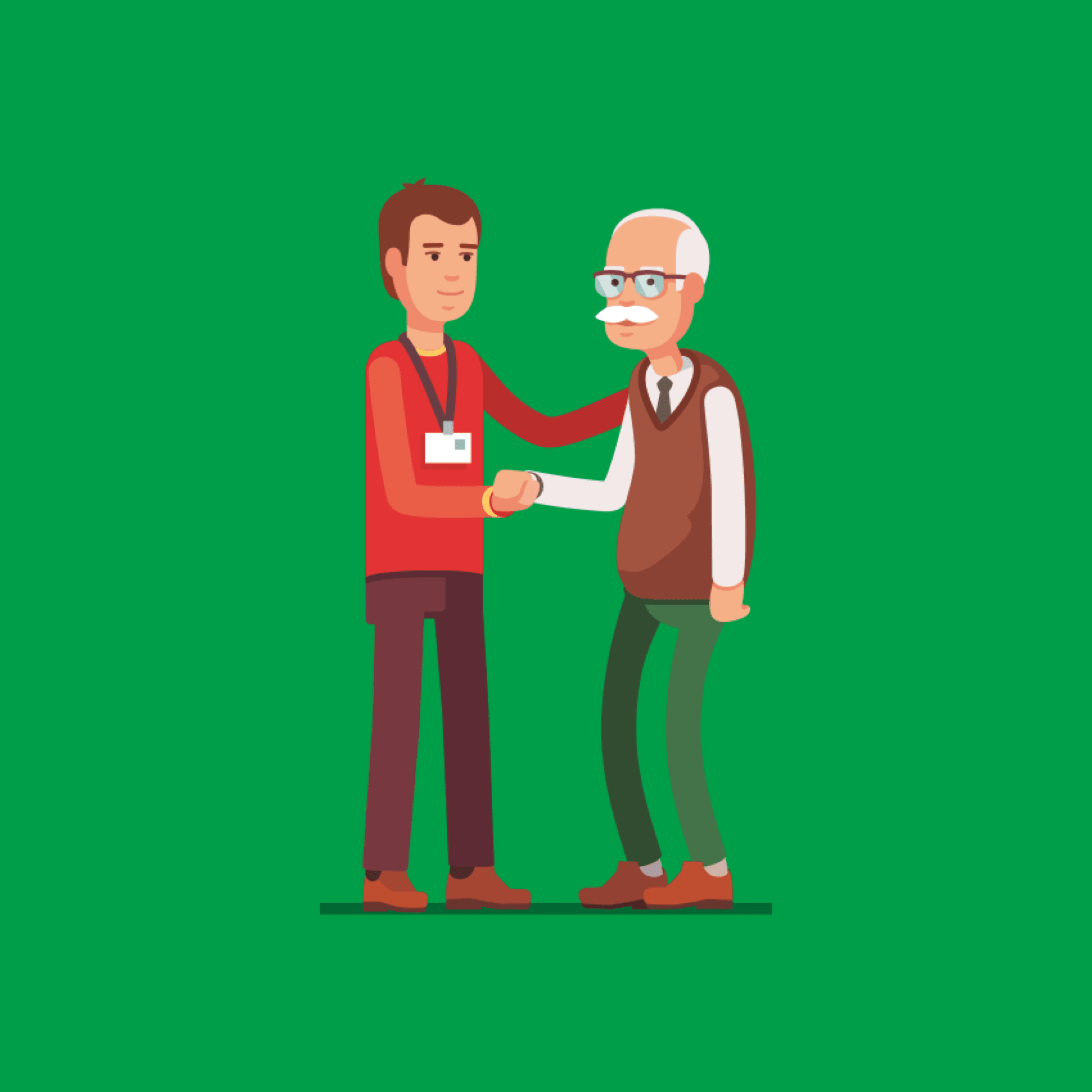 Welbeing helping hand illustration