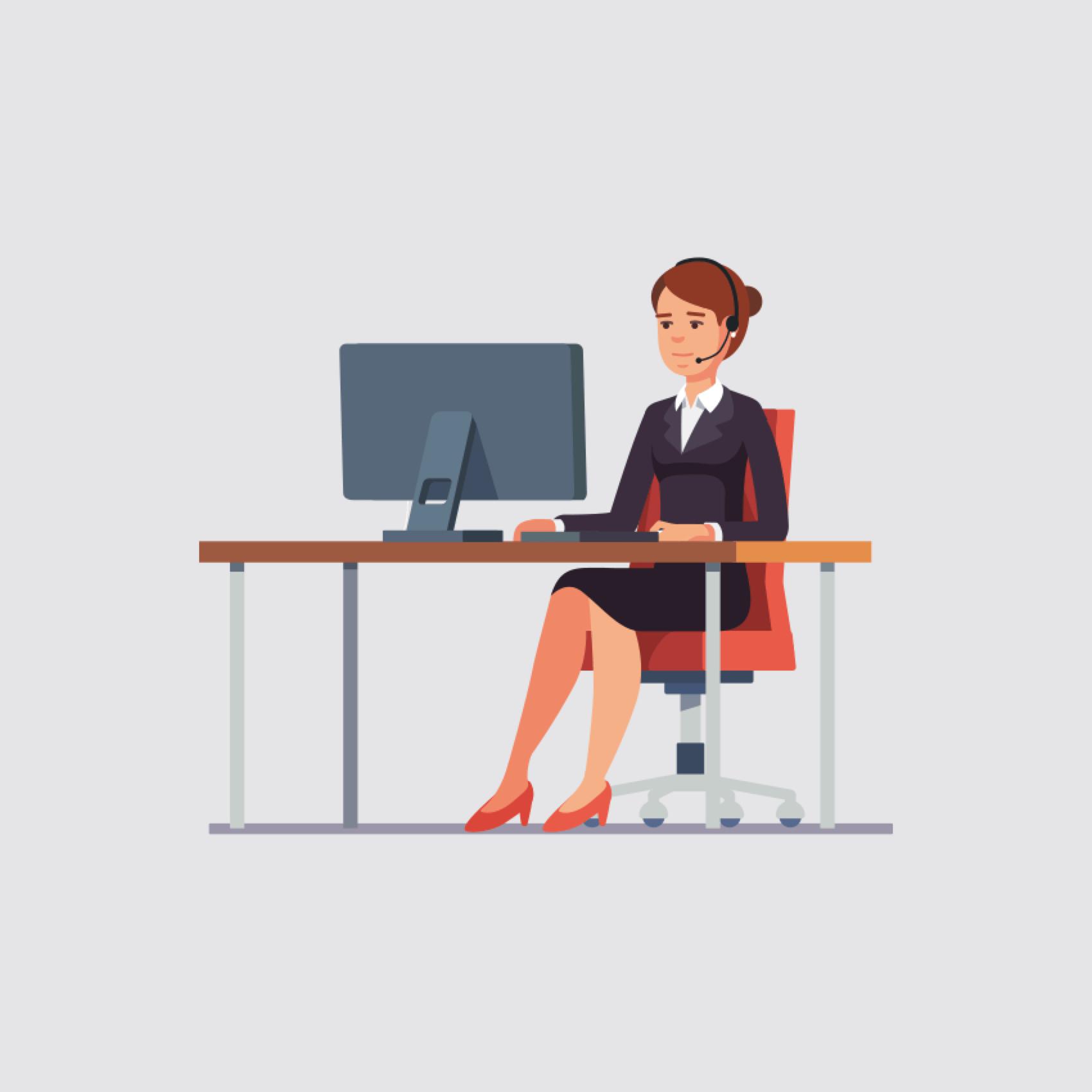 Welbeing customer service illustration