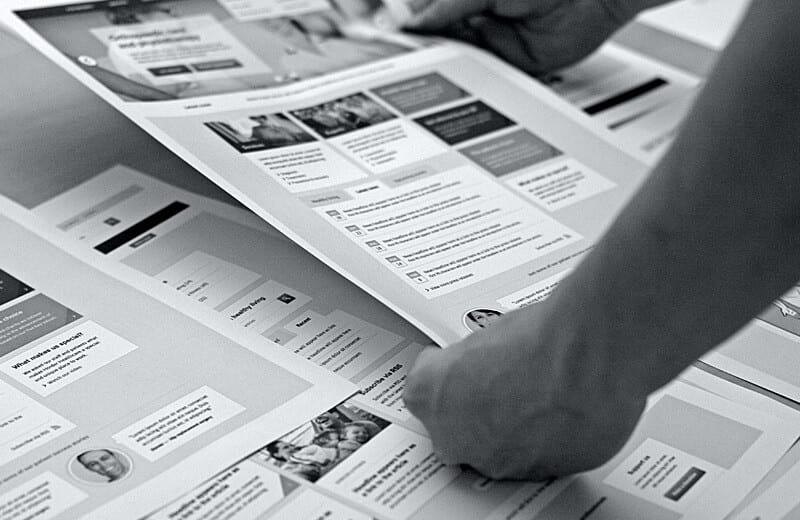 Prioritising content through wireframing