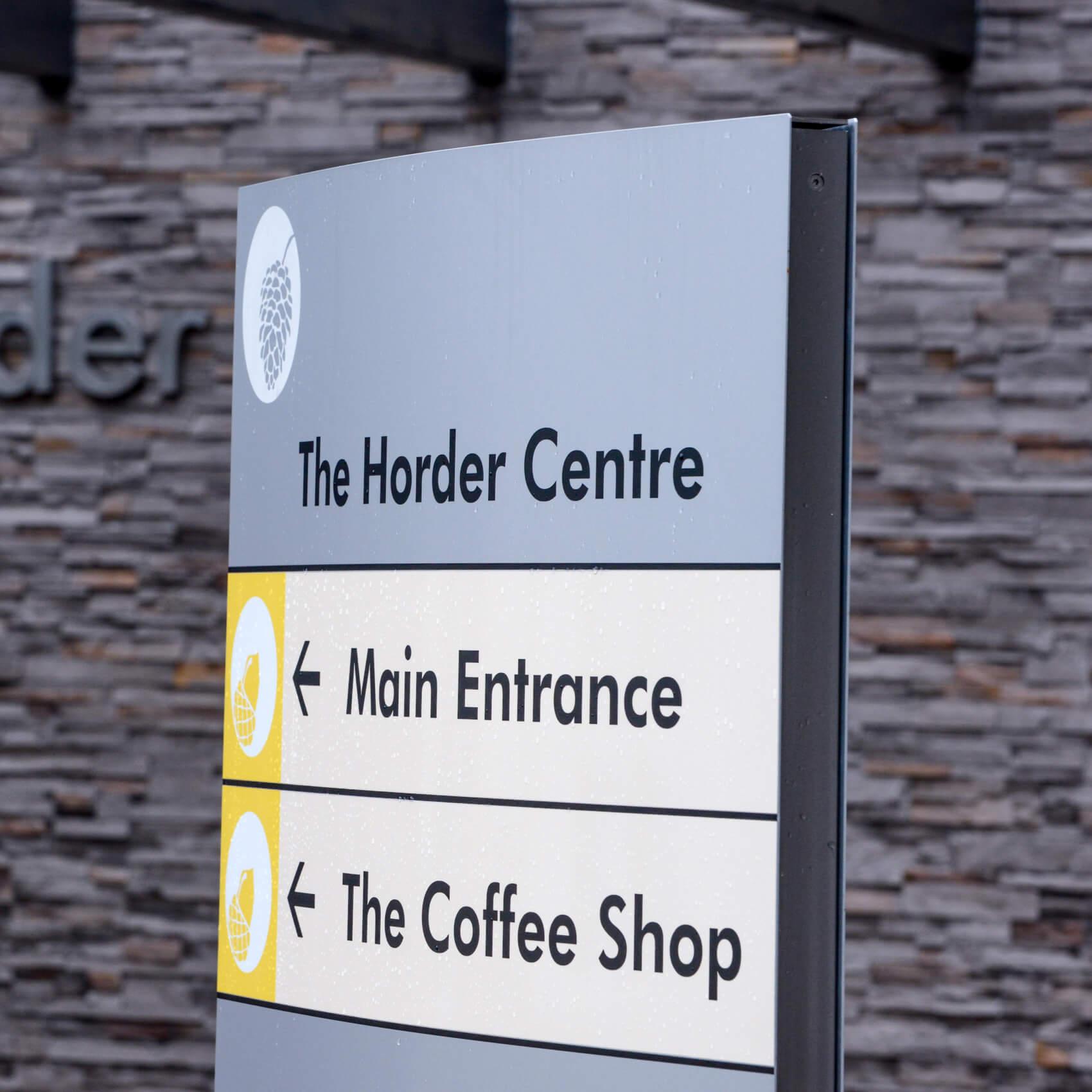 Horder Centre signage