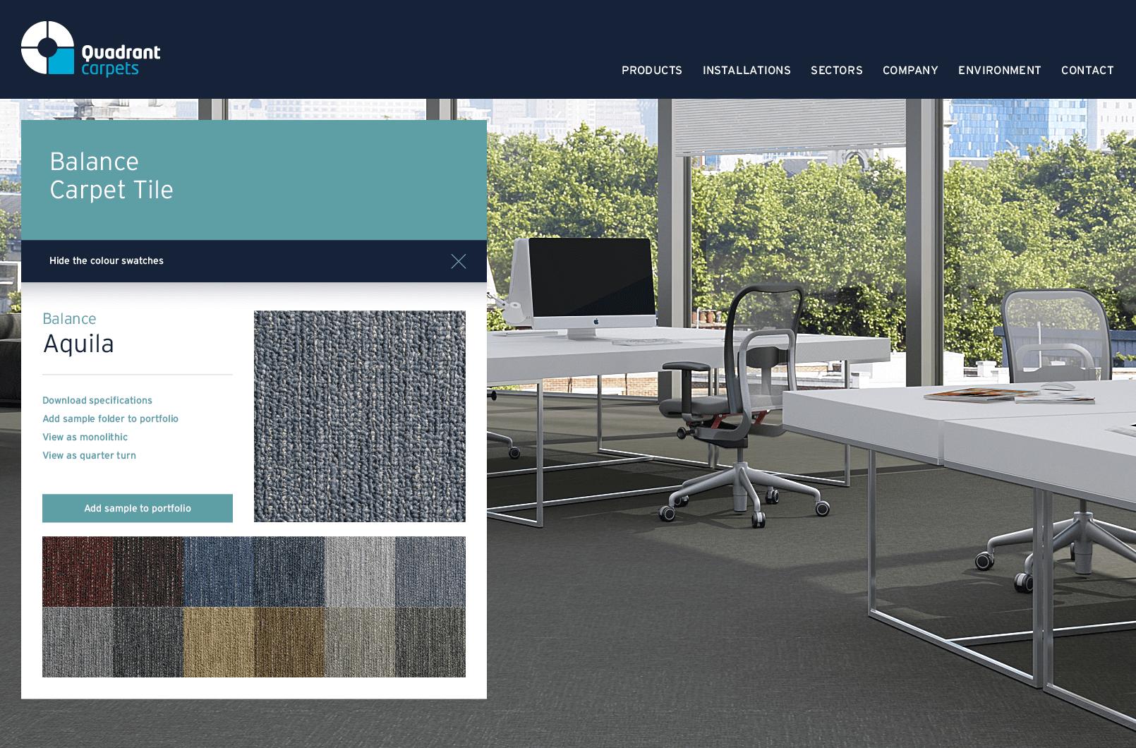 Quadrant website product details