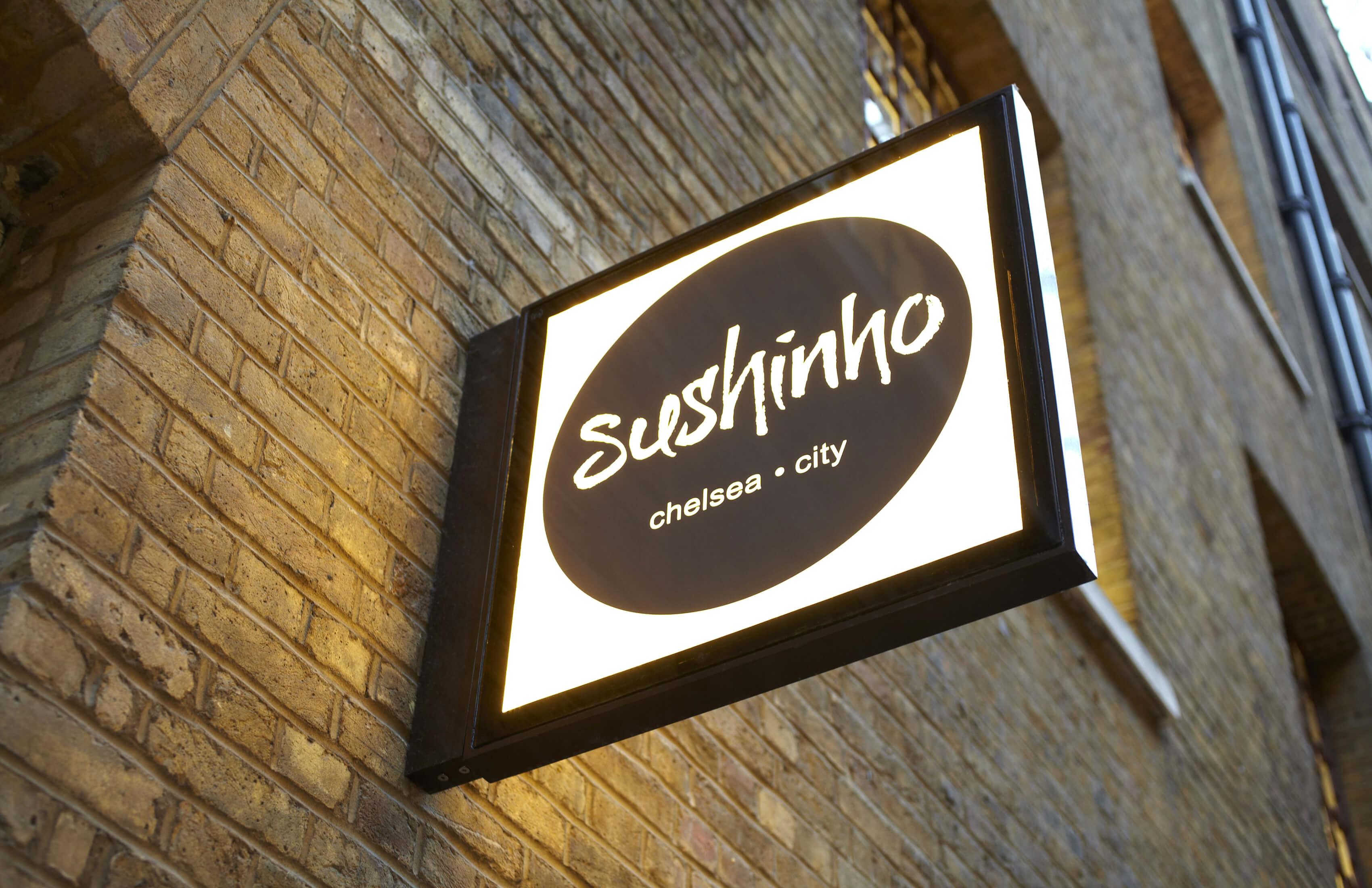 Sushinho City signage