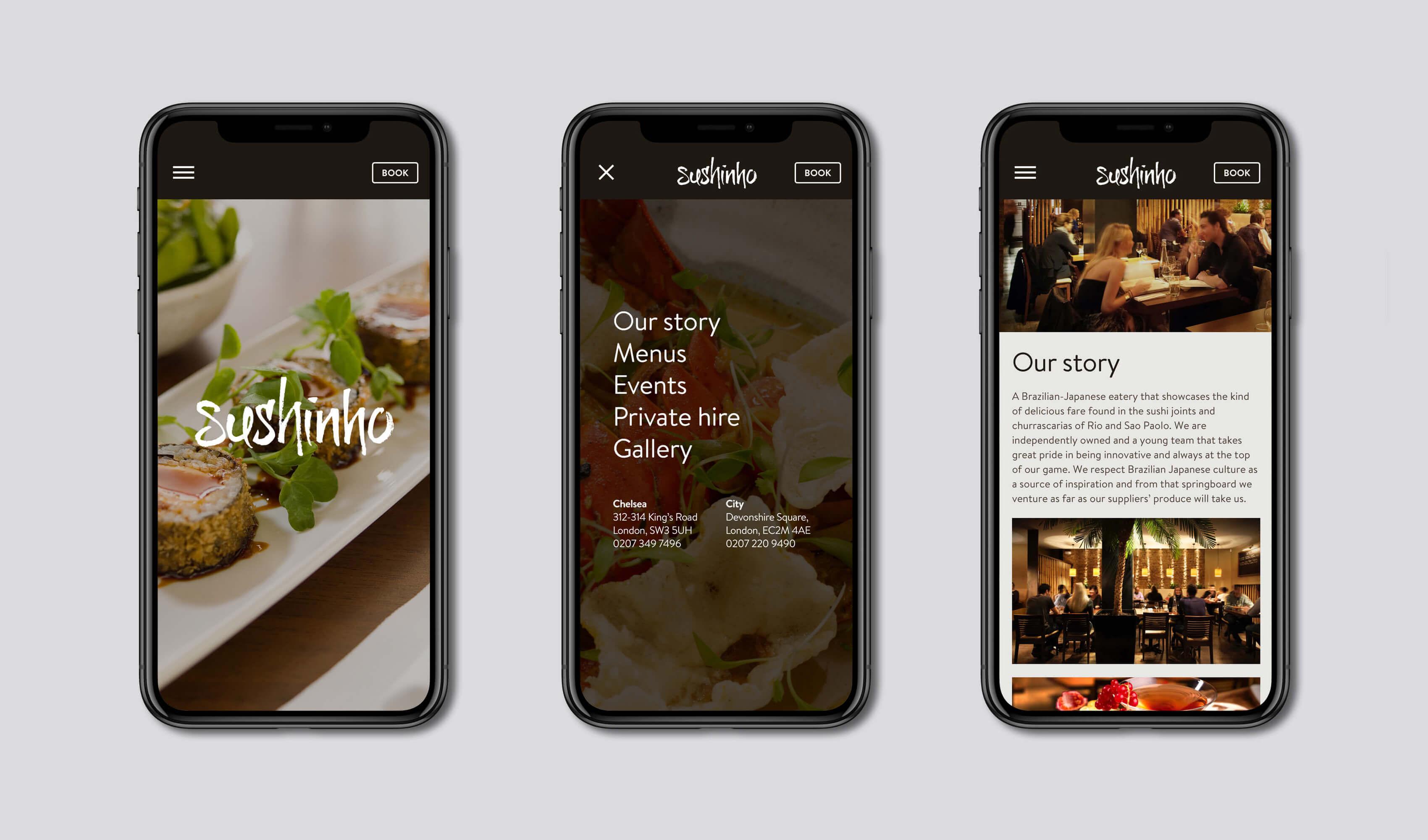 Sushinho mobile website