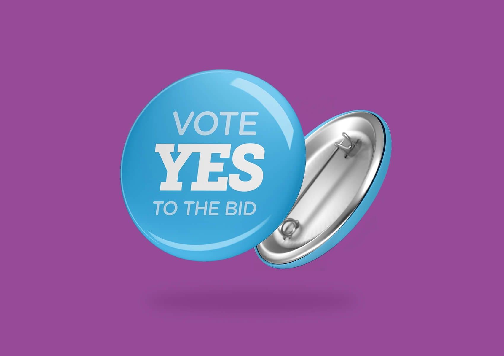 Yes vote badge
