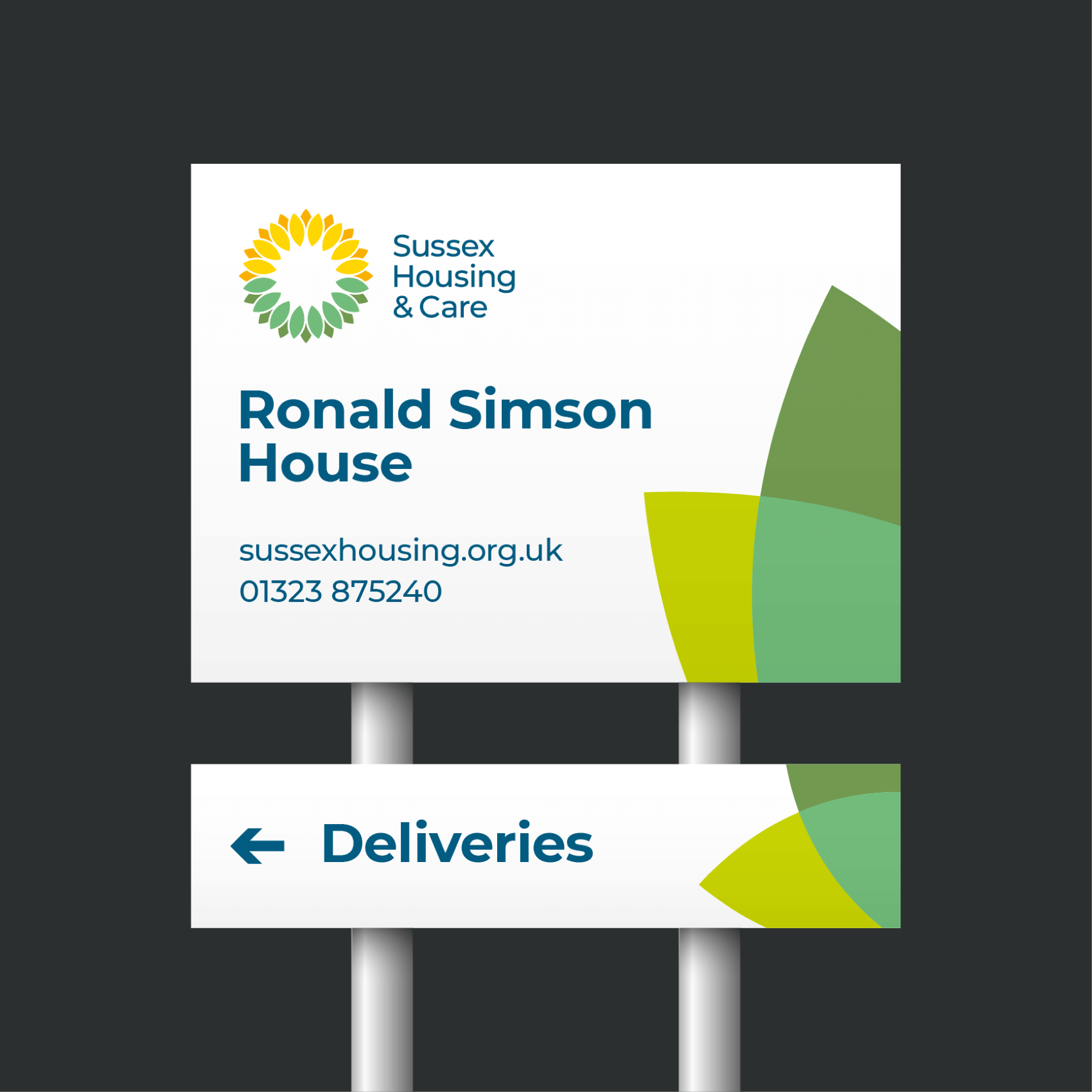 Sussex Housing care home signage